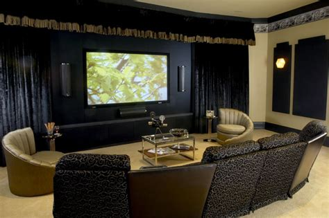 woodley house media room eclectic home theater dc