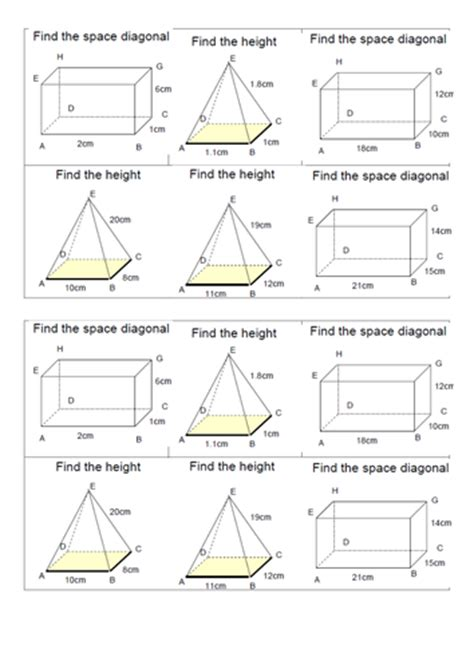 3d Pythagoras Worksheet With Answers pythagoras theorem for high ability by elfinhan1