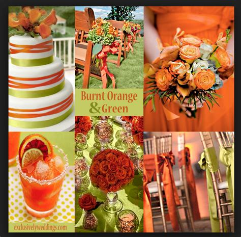 orange wedding colors wedding colors help me