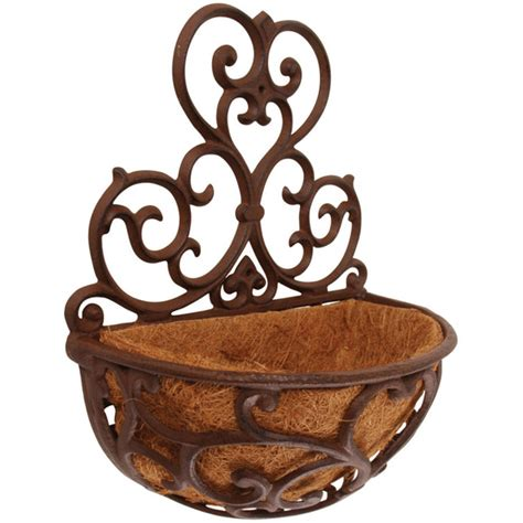 Cast Iron Wall Planter by Cast Iron Hayrack Wall Planter By Garden Selections