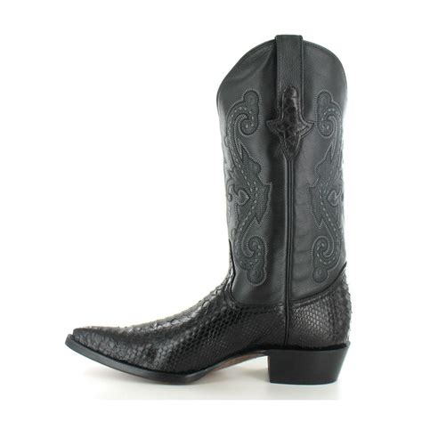 mens leather cowboy boots go west el camino mens leather and python skin western