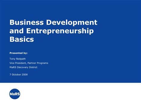 Mba Small Business Entrepreneurship by Business Development And Entrepreneurship Basics