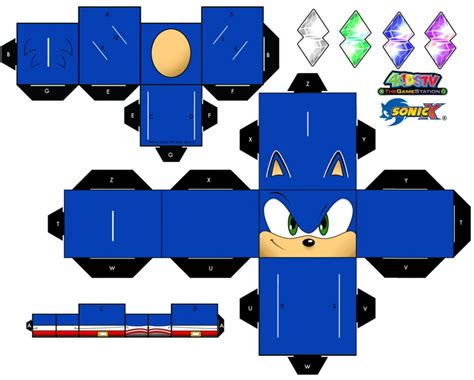 Papercraft Sonic - sonic the hedgehog papercraft page 1 by xchosenone1 on