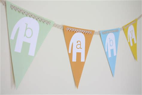 Baby Shower Bunting by Summer Baby Shower Goodies Alpha