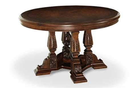 round formal dining room table aico by michael amini windsor court formal dining room