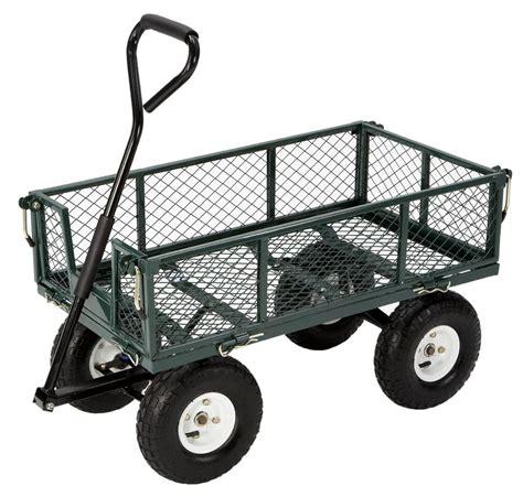 Garden Carts folding sides convert cart into a flatbed