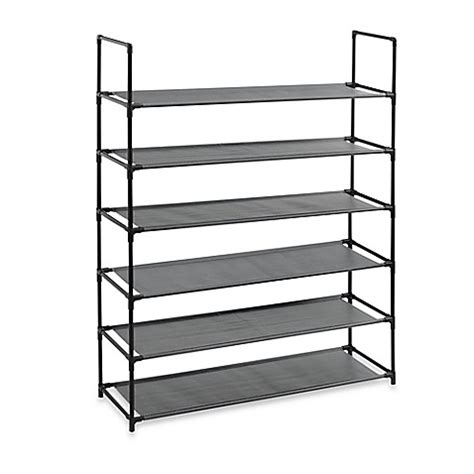 bed bath beyond shelves buy 6 tier fabric shoe rack in black from bed bath beyond