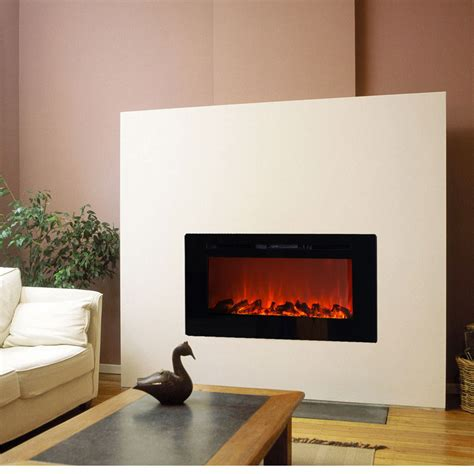 recessed electric fireplaces touchstone sideline 50 inch wall mounted recessed electric