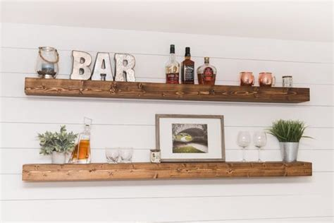 long floating shelf  farmhouse shelves xl etsy
