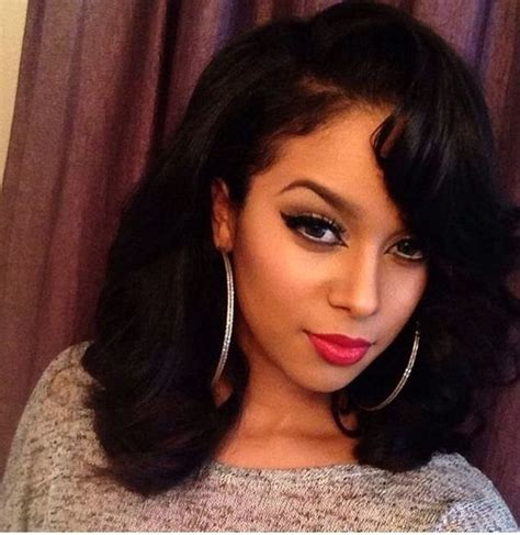 www yayhairstyles com permed shoulder length sew in yay or nay hair pinterest