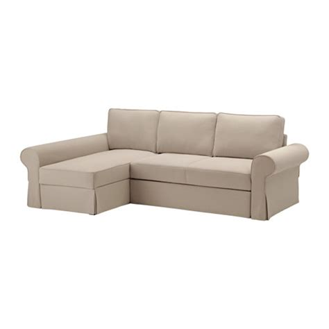 chaise longue sofa bed backabro sofa bed with chaise longue hylte beige ikea