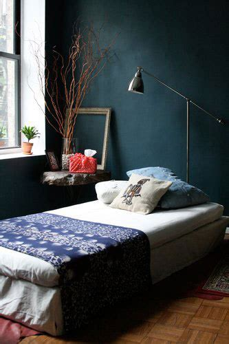 dark walls in bedroom teal palette swoon eyeswoon