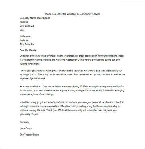 business letters thank you for your service thank you letter for your service 10 free sle