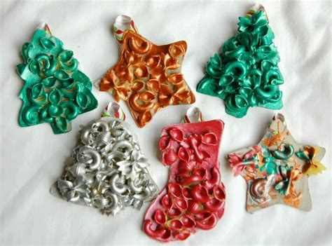 dried pasta ornaments what can we do with paper and glue
