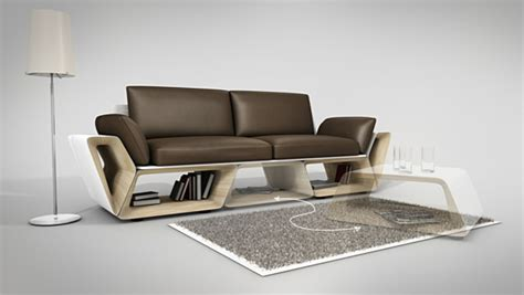 creative couch designs more counter space while showcasing a creative furniture