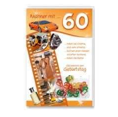 60er Männer by Gl Ckwunschkarte Zum 60 Geburtstag M Nner Mit 60