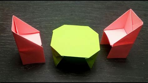 how to make a paper table origami things my crafts and