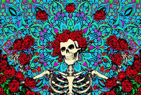 love trippy forever hippie psychedelic peace skeleton rose good vibes letsdropacidwiththebeatles ?