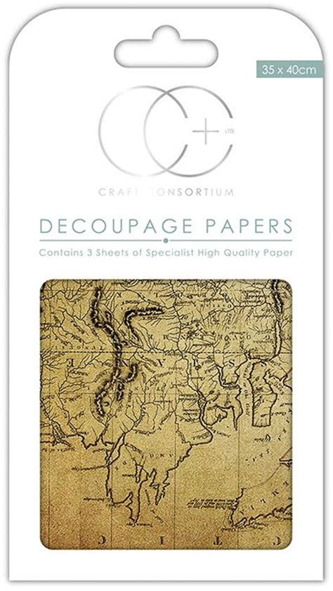 Decoupage World - craft consortium world map 2 decoupage papers ccdecp157