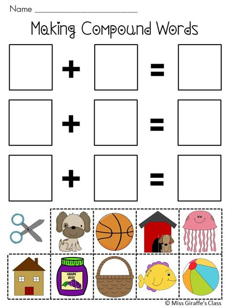 printable compound word games compound words worksheets and activities mega pack