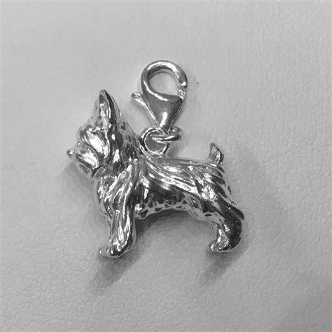 yorkie charm terrier charm sterling silver fits pandora bracelet