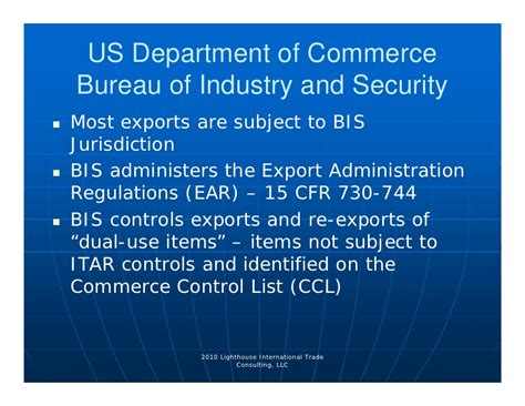 bureau of industry and security bis export compliance 4 13 10