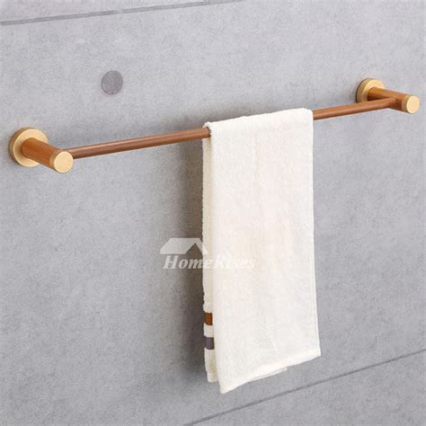 wooden towel bars bathroom wooden towel bar wall mount natural single pole