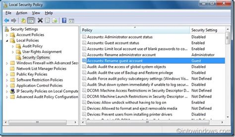 how to rename guest account in windows 7