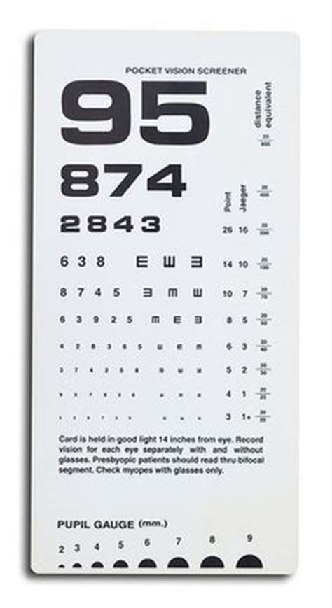 printable near card 1000 images about functional vision testing on pinterest