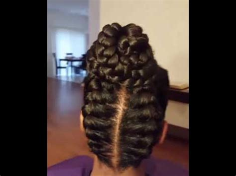 goddess braid bun youtube