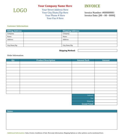 3 Blank Invoice Template And Maker To Make Quick Invoices Blank Invoice Template For Microsoft Word