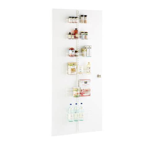 white elfa utility pantry door wall rack solution the