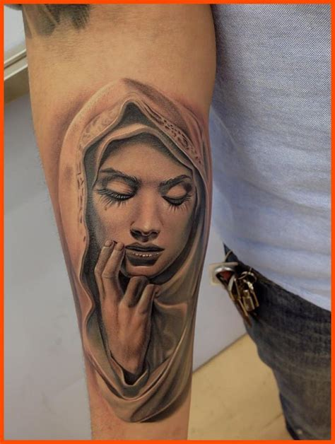christian tattoo dallas man right half sleeve virgin mary tattoo