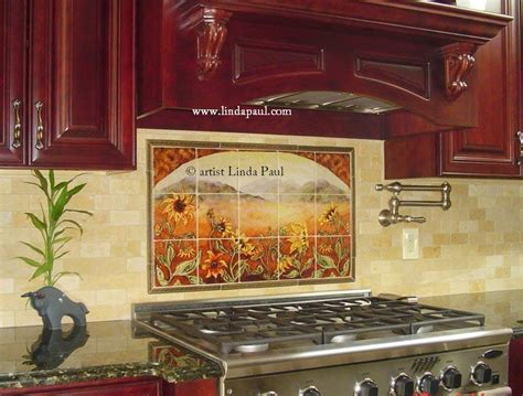 sunflower kitchen decorating ideas sunflower kitchen decor tile murals western backsplash