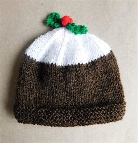 Knitting Pattern Xmas Pudding Hat | christmas pudding baby hat allfreeknitting com