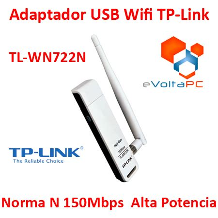 Usb Wifi Tp Link Tl Wn722n adaptador usb wifi tp link n 150 mbps antena tl wn722n 4dbi evoltapc