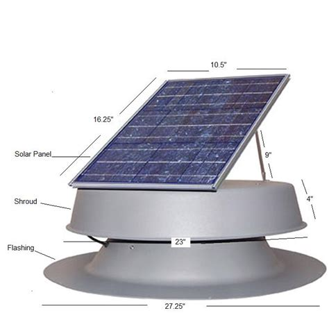 Solar Roof Light Solar Powered Roof Attic Fan Light
