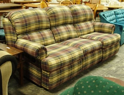 plaid couch for sale plaid dual reclining sofa in worcester ma diggerslist com