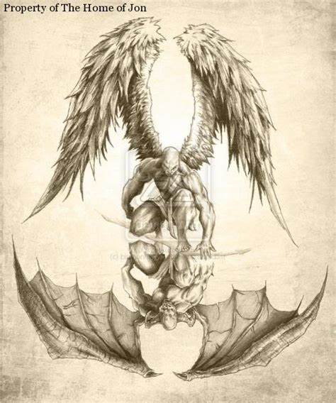 Angel And Demon Tattoo Drawings | demons and fiction moniquejames