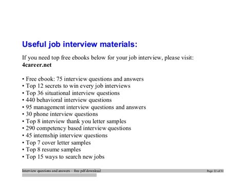 Case Management Resume Samples by Top C Interview Questions And Answers Job Interview Tips