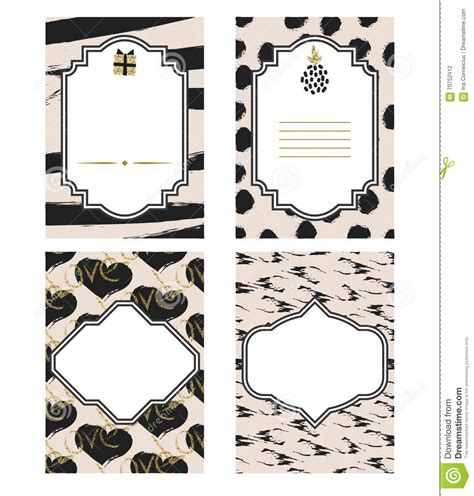 cards templates black and white birthday card black and white template set gold glitter