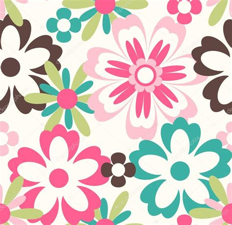flower pattern stock illustrations seamless spring flower pattern background stock vector
