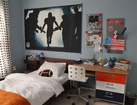 ikea boys room orange brown and blue boys room sports theme bedroom for