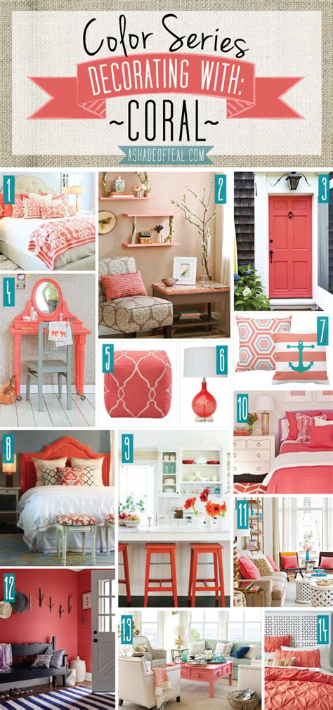 color series decorating with coral coral home decor