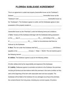Commercial Sublease Agreement Template free florida sub lease agreement template pdf word