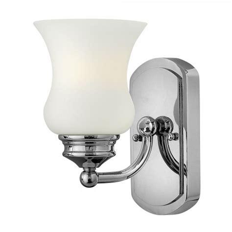 classic bathroom lighting classic chrome bathroom wall light with opal glass bell shade