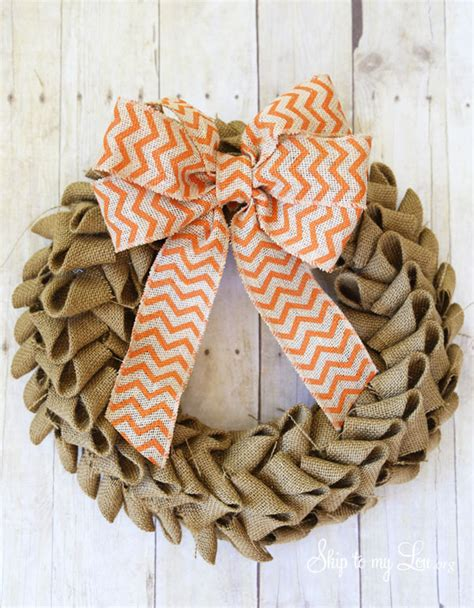 quick easy burlap fall wreath tutorial love of learn how to make a burlap wreath with this easy tutorial