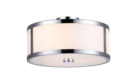Dvi Lighting Fixtures Dvi Lighting Dvp1112ch Op Chrome Opal Uptown 3 Light Semi Flush Ceiling Fixture