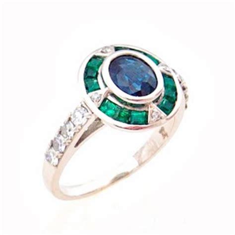 failey bespoke sapphire emerald and