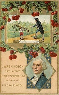 cherry tree president president george washington cherry tree patriotic postcard eur 6 68 picclick ie